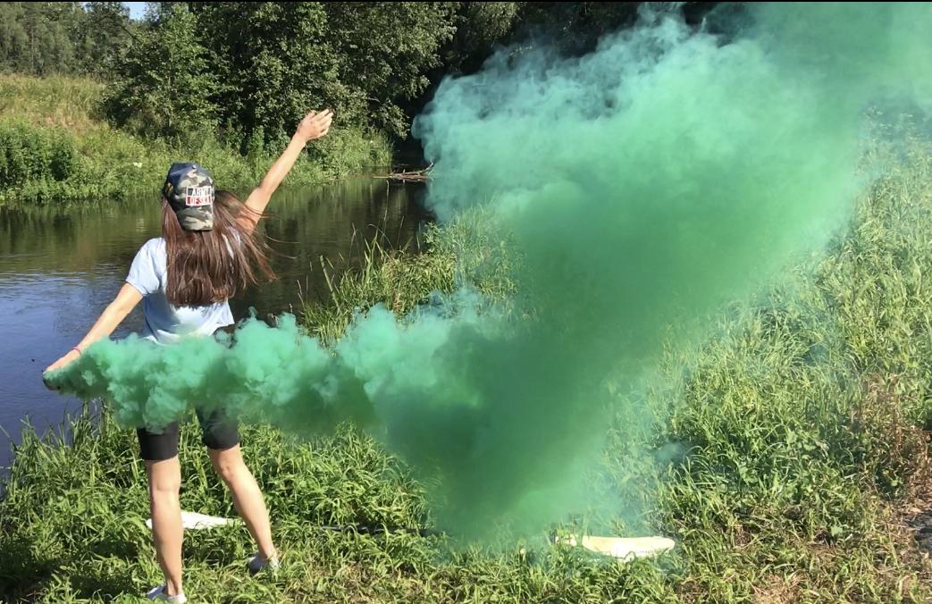 Дымовая шашка зеленая