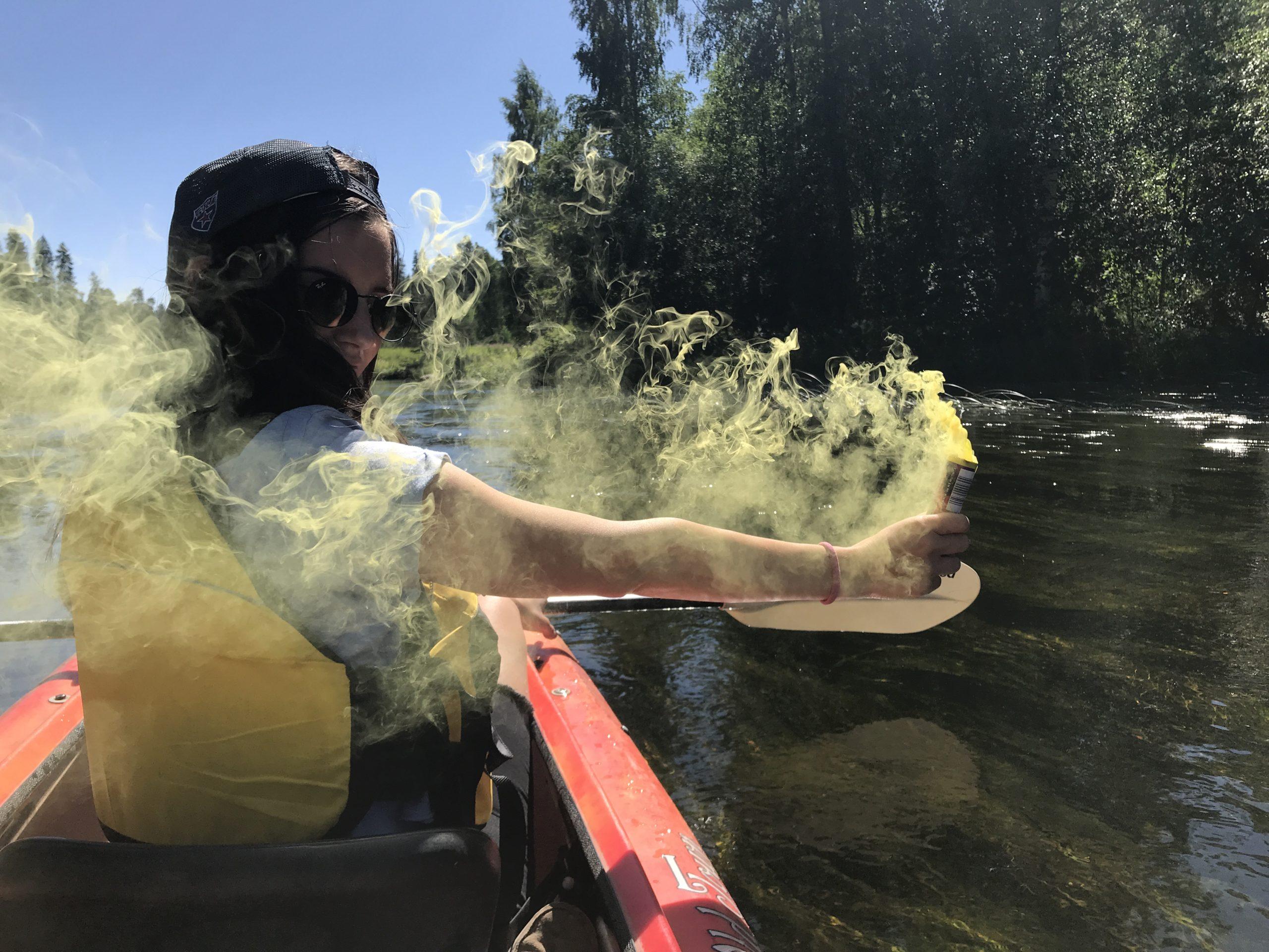 Дымовые шашки желтые